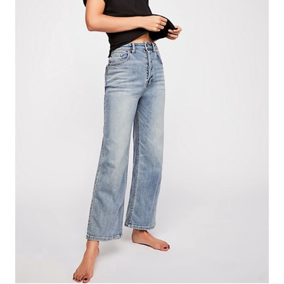 Wild Fable High-Rise Skater Women/'s Black Jeans Wide Leg Cropped